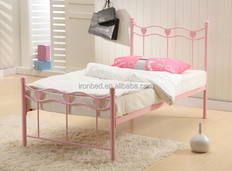 High quality metal cheap kids single beds