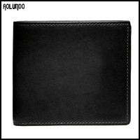 Custom mens popular genuine leather wallet china leather