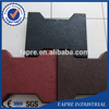 Outdoor Colorful Recycled Rubber Paving Brick With Competitive Price