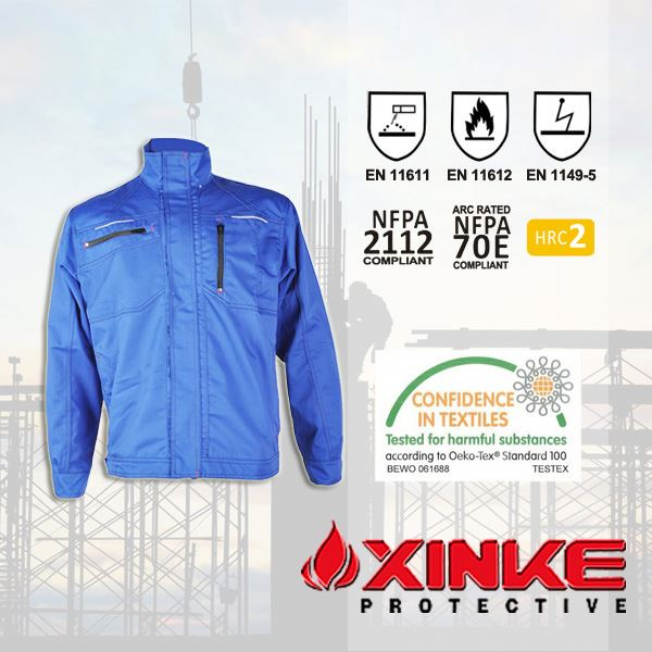 eco friendly 100%cotton fire protection jacket for safety