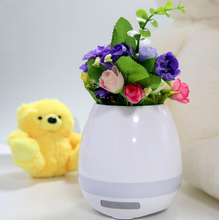 New colorful cheap Creative Music LED Dancing Plastic Smart Flower Pot with Bluetooth Speaker