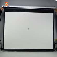 Factory low price 100 inch matte white motorized projector screen Electronic projection screen