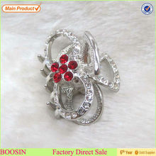 Unique Alloy Red Crystal Barrette Hair Flower Wholesale #6309