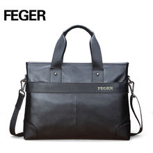 Modern design portable premium quality trend cow leather business bag handy bag with strap
