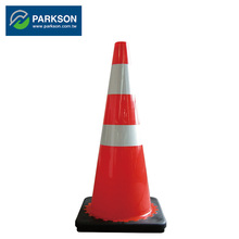 PARKSON SAFETY Taiwan Black Base Two 3M Reflective Tape Traffic Accident Road Control Cone TCB-45R2