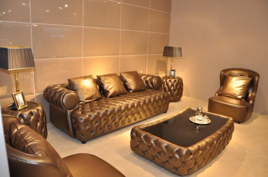wohnzimmer chesterfield:luxus wohnzimmer chesterfield ledersofa möbel-Wohnzimmer Sofa-Produkt