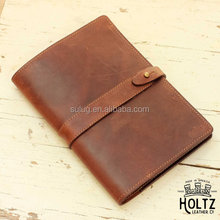 PERSONALIZED Fine Leather Journal Padfolio Notebook Cover A5