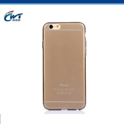 Shenzhen supplier transparent phone cover for iphone 6 tpu case