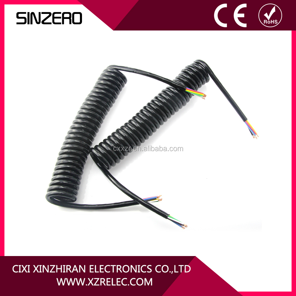 7 core trailer cable electrical spiral cable electrical spring cable