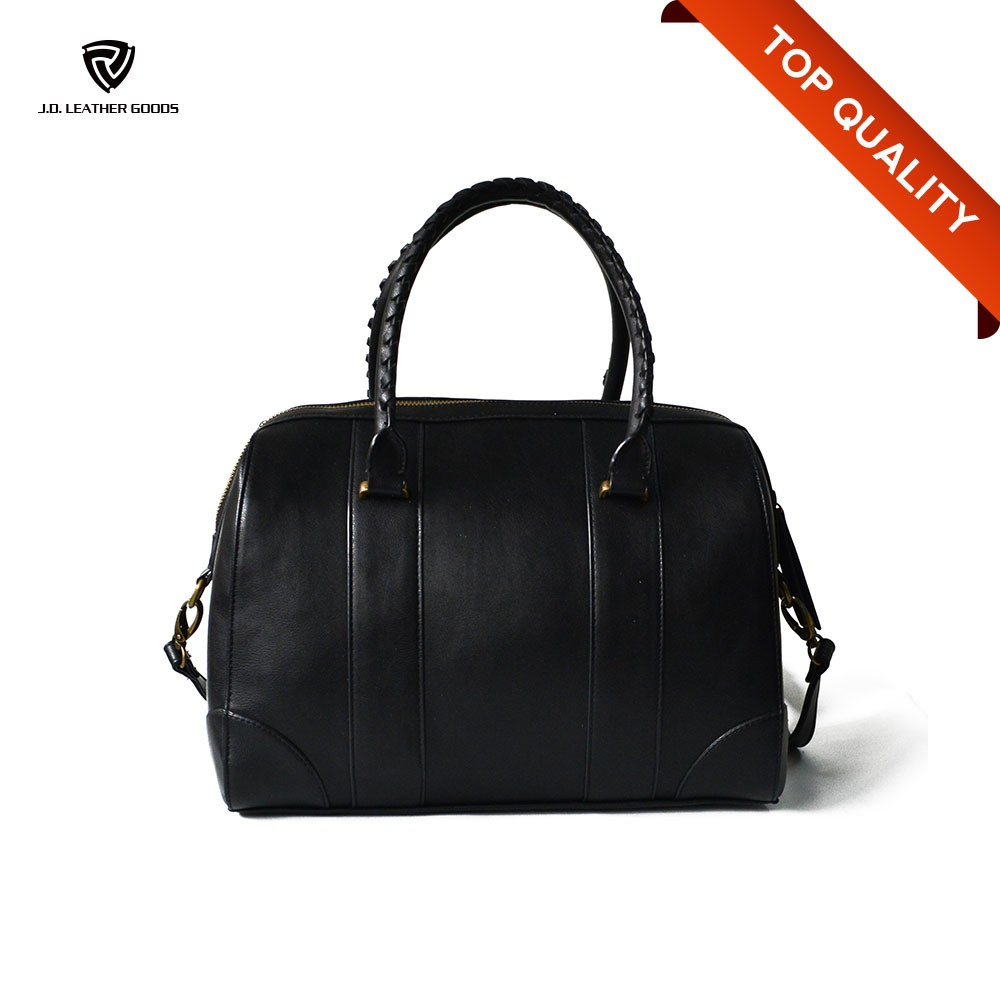 Big Capacity Real Leather Handbag Lady/Women OEM Handbags Black