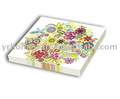 Printed paper napkin multi color paper serviette dinner napkin
