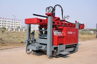 Low Labor Intensity Water Well Drilling Rig For Plains Hilly Land , Water Well Drill Rig