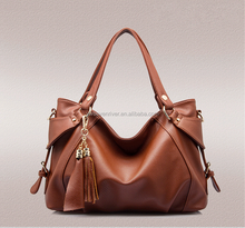 Genuine leather ladies bag high quality fashion branded handbag