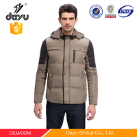 2016 Latest design cheap custom winter hooded coat wholesale softshell jacket blank plain men varsity winter goose down jacket