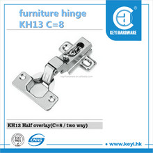 2015 Hot sale KH13 C=15 furniture hinges , kitchen cabinet hardware hinges , hidden hinges