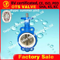 BV-SY-145 ISO factory exhaust bare shaft ISO5211 installation butterfly valve PN10 PN16