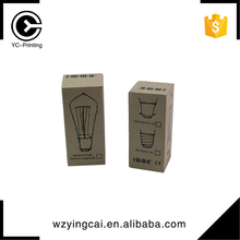 Professional custom lamp LED bulb kraft paper packaging box