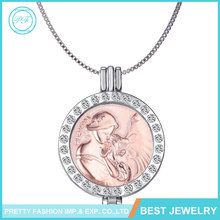Pretty Fashion Sterling Sliver Diamond Pendant Necklace Mother And Children Necklace
