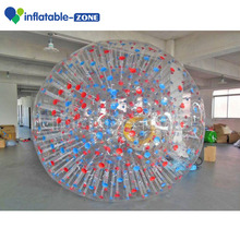 Inflatable human sized hamster ball cheap pvc zorb ball red used zorb ball