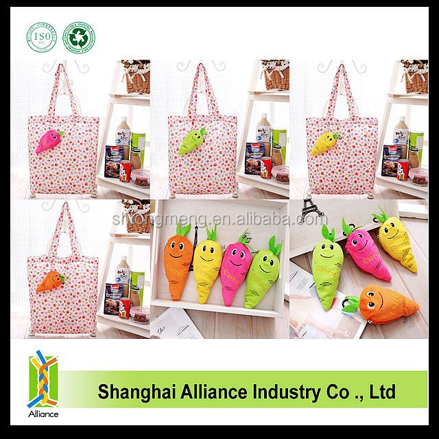 Personalized Polyester Cotton Carrot Foldable Shopping Bag(Z-FB-063)
