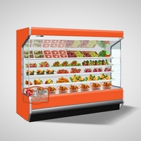 LFG-A upright supermarket Multideck display open chiller/Multideck Refrigeration Showcase/Multideck display cabinet