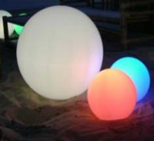 2017 Wholesale Top Seller Rechargeable Flashing Outdoor Led Light Ball Changing Color PE 15-80CM IP68