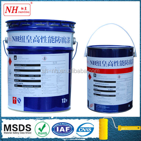 Two Components Epoxy anticorrosive paint as primer and intercoat