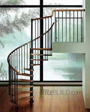 Best quality modern style indoor wood railings banisters