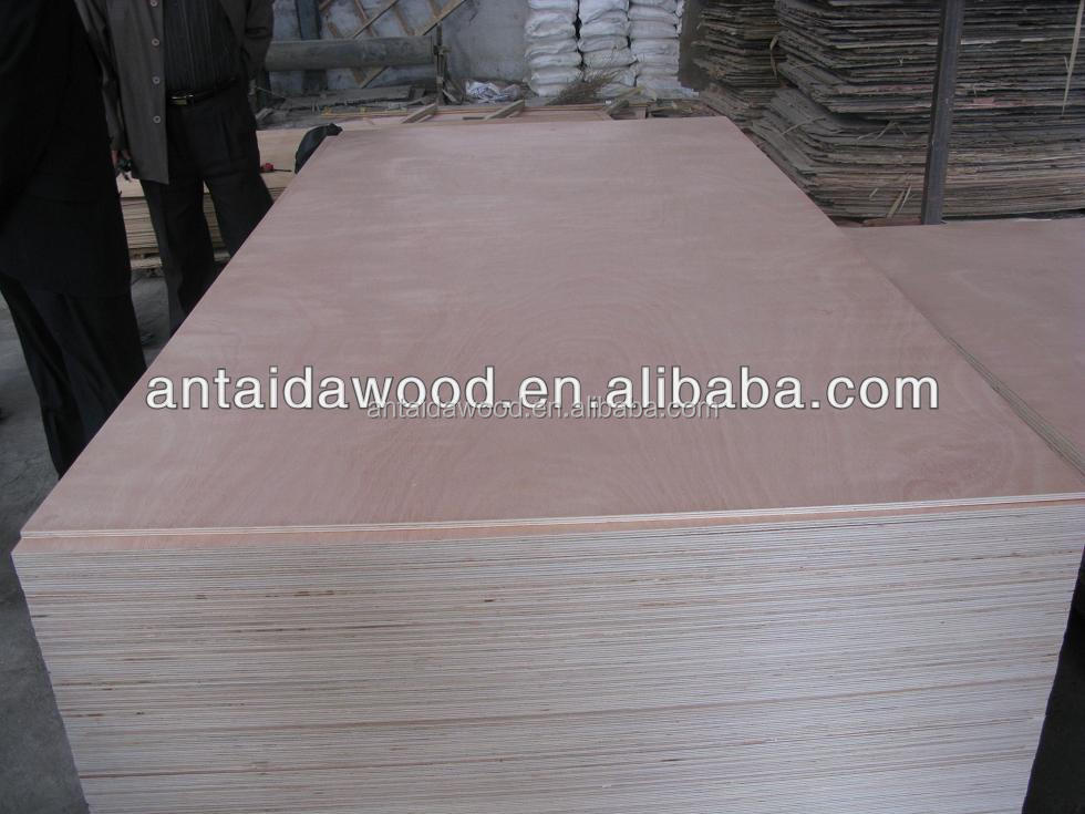 Red hardwood commercial plywood sheets from Linyi