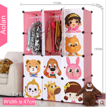 2015 new design hot sexy plastic Magic wardrobe Storage folding portable wardrobe/Pink 12 cube clothes display