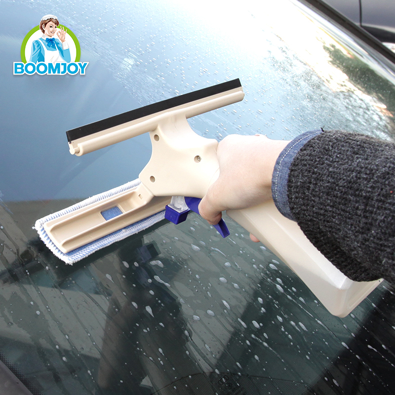 BOOMJOY Super clean Instant misting TPR rubber microfiber car cleaner/ window squeegee