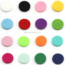 round shape felt pads for round essential oil diffuser locket pendant