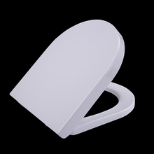 Bathroom hygienic European standard Short D shape Comfortable Slow Closing Duroplast toilet seat cover