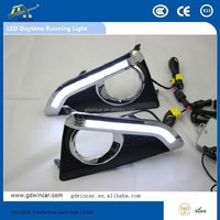 factory wholesale high quality Daytime Running Light Cover Smoke for Toyota Reiz Guide light (2014) LED Daylight (DRL) System
