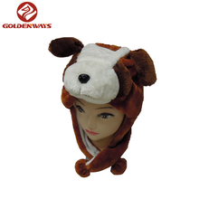 Cool dog plush winter animal hat for men