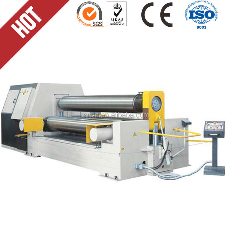 for sale cheap and high quality <strong>W11</strong> series symmetrical 3-rollers steel plate rolling machine
