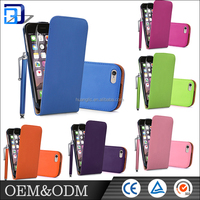 High quality ! various Color cell phone cover pu leather case for Iphone 6 / 6s / 6s puls case