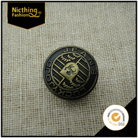 Fashion customed made metal denim jeans tack button for jeans
