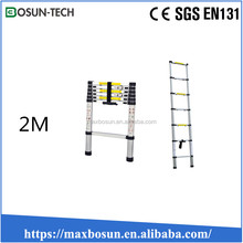 aluminium alloy one section straight retractable ladder 2m