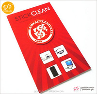 Low-cost factory direct sell mobile phone cleaner sticker /microfiber screen cleaner