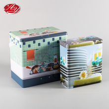 Large Rectangle Tin Can Laundry Powder Metal Box