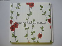 Quality Rose Flower Wall Paper Lamination Decorative PVC Wall Board