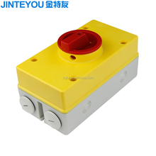 20A 32A 40A 63A 80A electrical load isolation rotary switch