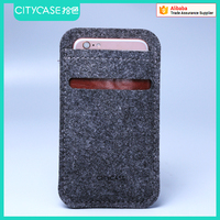 city&case handmade felt sleeve for iPhone