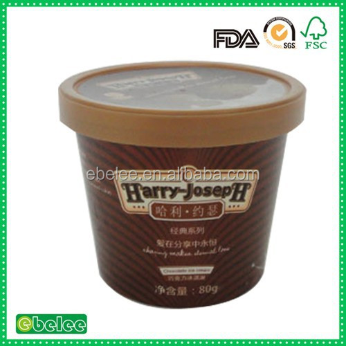 3.5oz printed biodegradable ice cream cups
