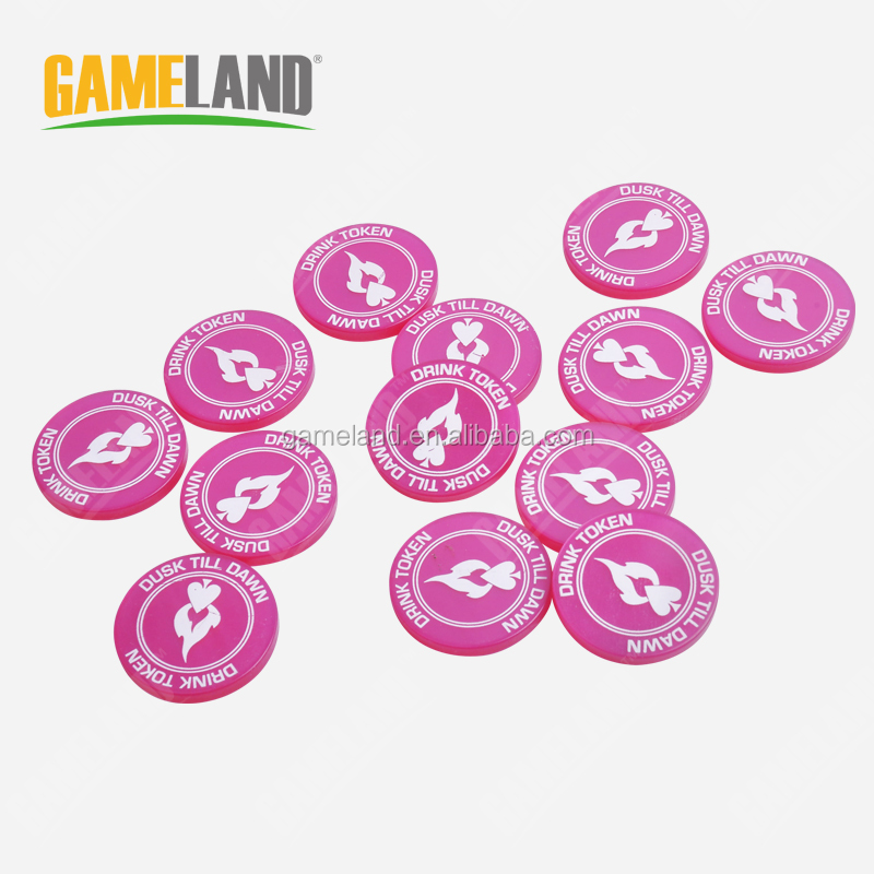 Gameland custom plastic token