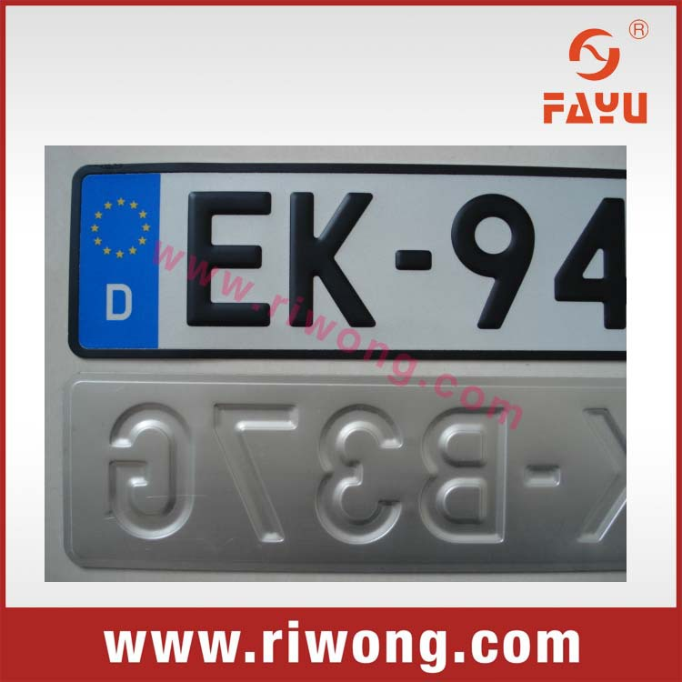 european size license plate german