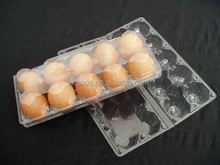 10 Holes Cheap Price Transparent Eco-friendly plastic Egg Tray