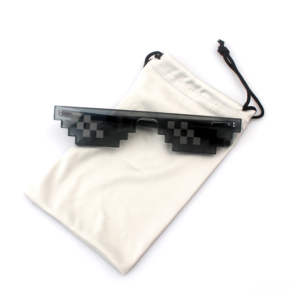2017 new model YNJN small flat top hot sale high quality no brand custom logo promotional pixel sun glasses