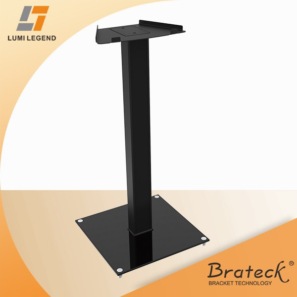 Fixed Metal and Glass Speaker Floor Stand